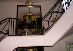 The Art Deco staircase at the Hotel Martinez, Cannes
