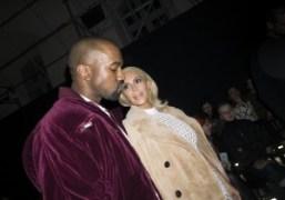 Kanye West and Kim Kardashian at the Balenciaga F/W 2015 show, Paris….