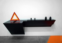 A work from 2009 by artist Haim Steinbach included in Luhring Augustine…