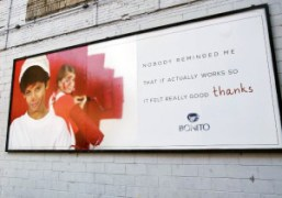 A billboard installation by JWDB outside Gavin Brown's Enterprise, 620 Greenwich Street,…