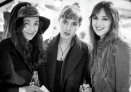 Tamara Cincik, Paula Goldstein and Valentine Fillol-Cordier at the opening of&OtherStories 1stglobal…