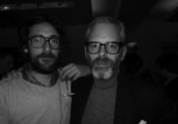 Harley Hughes and Thomas Lenthal at the Yves Saint Laurent men's Fall/Winter…