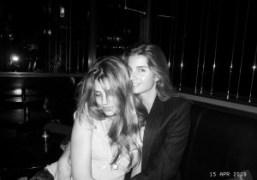 Priscilla de Laforcade and Sonia Sieff at Le Montana, Paris. Photo Olivier…