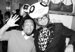 Takashi Murakami and Tomoyuki Tanaka (Fantastic Plastic Machine) spinning at the Louis…