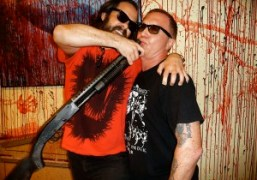 Gallerist Javier Peres and artist and director Bruce LaBruce at the Untitled…