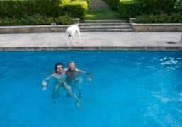 Olivier Zahm and Stefano Pilati, Saint-Tropez. Photo Olivier Zahm