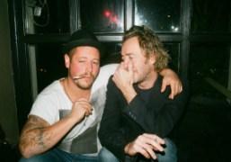 Artists Zhivago Duncan and John Isaacs at the Odessa Bar, Berlin. Photo…