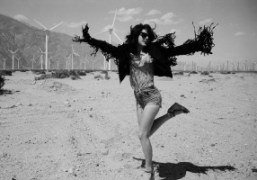 Actress and musicianAnnie Monroe in Joshua Tree, Calfornia. Photo James D. Kelly