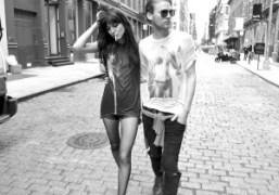 Irina Lazareanu and Dakota Heman, New York. Photo Gavin Doyle