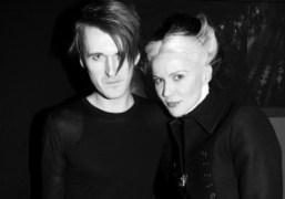 Gareth Pugh and Daphne Guinness after theGareth Pugh F/W 2012 show, Paris….