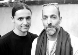 Olivier Theyskens and Ed Brachfeldafter the Haider Ackermann Mens S/S 2015 show…