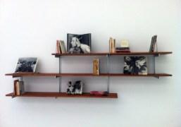 Carol Bove's book shelf at David Zwirner, New YorkPhoto Bill Powers