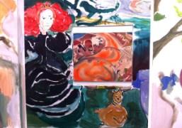 Sophie Von Hellermann paintings in theGreene Naftalibooth at theFrieze Art Fair, New…