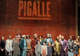 The finale of the Pigalle Men's F/W 2014 show at the Théâtre...