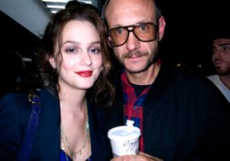 Leighton Meester and Terry Richardson before the Proenza Schouler Spring/Summer 2010 fashion…