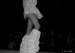 A silhouette from the Maison Martin Margiela Spring Summer 2010 show, Paris….