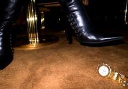 Olivier Zahm's Audemars Piguet Royal Oak watch at Boom Boom Room, Standard…