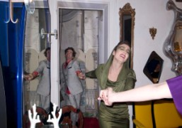 Vincent Darré and Natacha Ramsay dancing at Elie Top's birthday party Top…