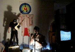 TV Baby perfoming at the Gavin Brown's Enterprise Christmas party, New York….