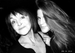 Babeth Djian with her assistant at Philippe Starck's birthday at Kong, Paris….