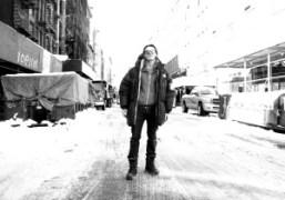 Mario Sorrenti in the snow, Bond Street, New York. Photo Olivier Zahm