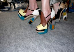 The shoes of the day at Balenciaga F/W 2010, Paris. Photo Olivier…