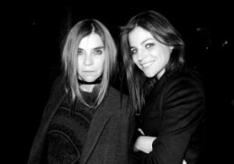 Carine Roitfeld and Julia Restoin-Roitfeld backstage after the Givenchy F/W 2010 show,…