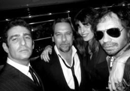 Jeffrey Jah, Sante D'Orazio, Lou Doillon and me at the launch of…