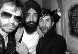 Olivier Zahm, André Saraiva and Waris at Jennifer Eymere's birthday, Place des…