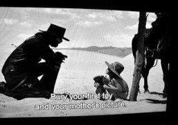 A film screen from El Topo by Alexandro jodorowsky at the Purple…