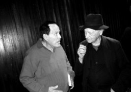Kenneth Anger and Jonas Mekas celebrating the 40 years of the film…