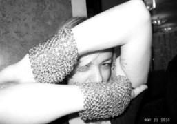 Jewelry designer Yaz bukey with her new bracelet at the Café de…