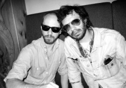 Purple photographer Magnus Unnar and Olivier Zahm, New York. Photo Olivier Zahm