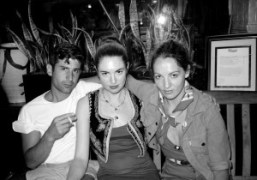 André Saraiva, Dakota Goldhor and Jennifer Eymere outside of Raouls, Prince Street,…