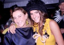 Muccia Prada and her niece at the Miu Miu S/S 2011 Show,…