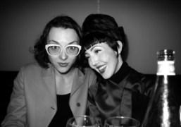 Purple stylist Masha Orlov and Michelle Harper at Pink Tartan dinner, Bottino,…