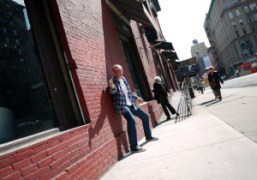 Terry Richardson on the street, New York. Photo Olivier Zahm