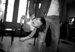 Andre Saraiva and his daughter Henrietta at home, Paris. Photo Olivier Zahm