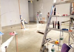 A view of Sarah Sze's exhibition at Tanya Bonakdar Gallery, New York