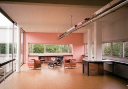 A view into the Villa Savoye by Le Corbusier, Poissy