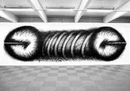 """""""Horizontal"""" by Judith Bernstein at her solo exhibition at Kunsthall Stavanger, Stavanger"""