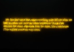 """276 (on color) (yellow)"" by Joseph Kosuth at Centre Pompidou, Paris"