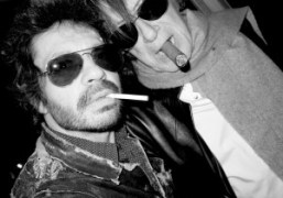Olivier Zahm with legendary singer Jacques Dutronc at the Etam 100th Anniversary...