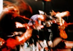 French post-punk / cold wave band Rendez-Vous live performance with visuals by...