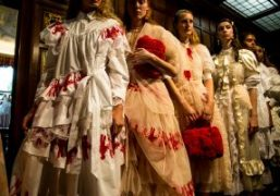Simone Rocha S/S 2018 show at Middle Temple, London