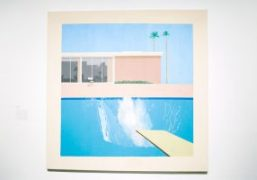 David Hockney retrospective exhibition at the Metropolitan Museum of Art, New York