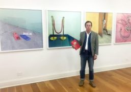 """Andy Spade at """"Likes"""" book signing & exhibition at Half Gallery, New..."""