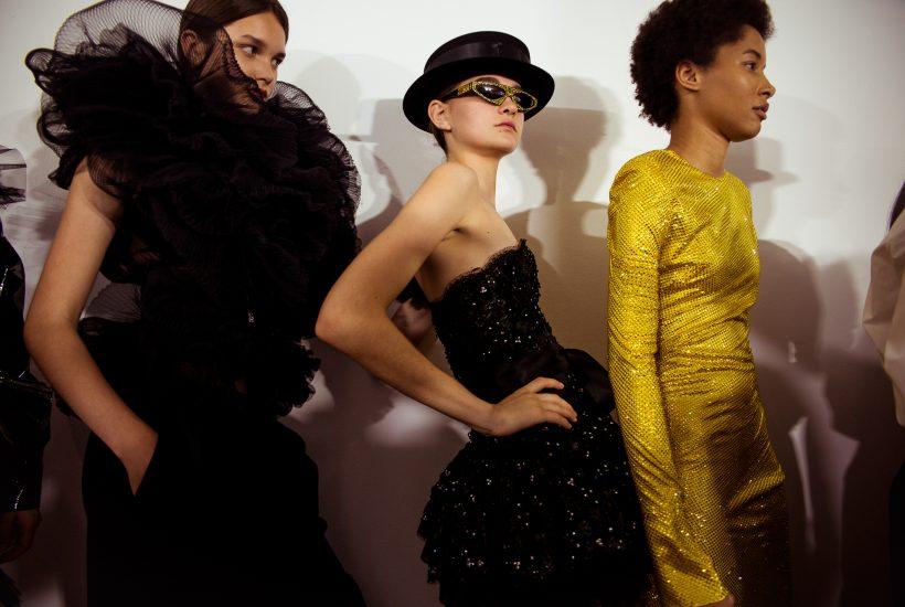 Alexandre Vauthier Haute Couture F/W 2018 backstage at Musée des Arts Décoratifs, Paris