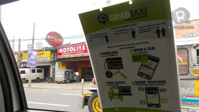 HOW TO. The app is easy to use. If you need extra information, you'll find it in the GrabTaxi cab.