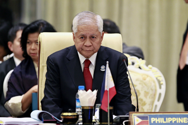 REGIONAL SUMMIT. Philippine Foreign Minister Albert del Rosario attends the Plenary Session of the 47th Association of South East Asian Nations Foreign Ministers' Meeting at Myanmar International Convention Center in Naypyitaw, Myanmar on August 8, 2014. Photo by Lynn Bo Bo/EPA